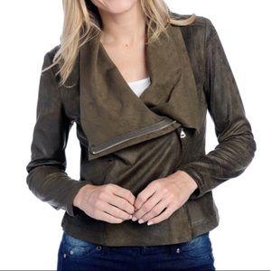 Zara Asymmetrical Zip Convertible Collar Jacket